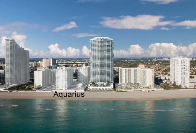 Palms, Residence, Aquarius and Trump